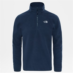 The North Face Glacier 100 1/4 ZIP Urban Mavi Erkek Polar