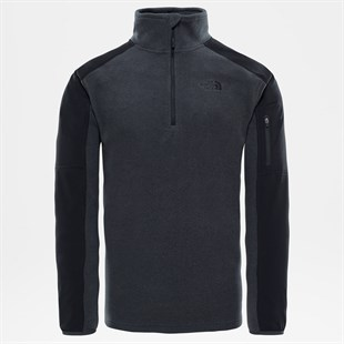 The North Face Glacier Delta 1/4 ZIP Koyu Gri Erkek Polar