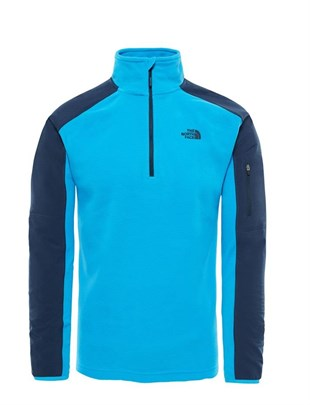 The North Face Glacier Delta 1/4 ZIP Mavi Erkek Polar